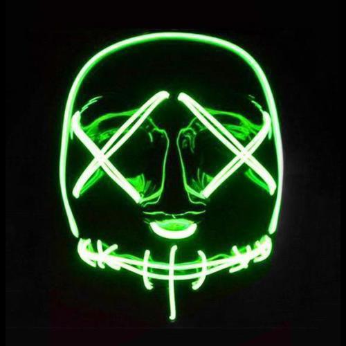 Green Cross Eyed LED Mask