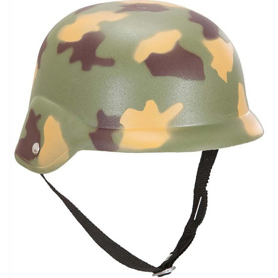 Plastic Army Camo Hard Hat