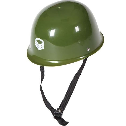 Plastic Green Army Hard Hat