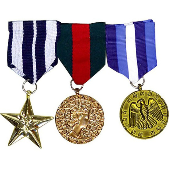 Combat Medals Set of 3