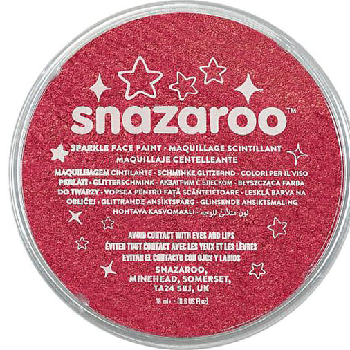 Sparkle Red Snazaroo Face Paint