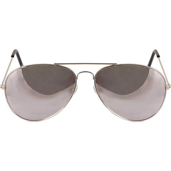 Aviator Glasses (Silver Mirrored)