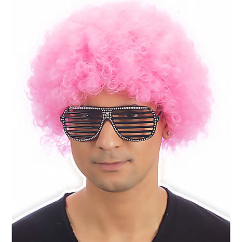 Clown Pop Wig (Pink)