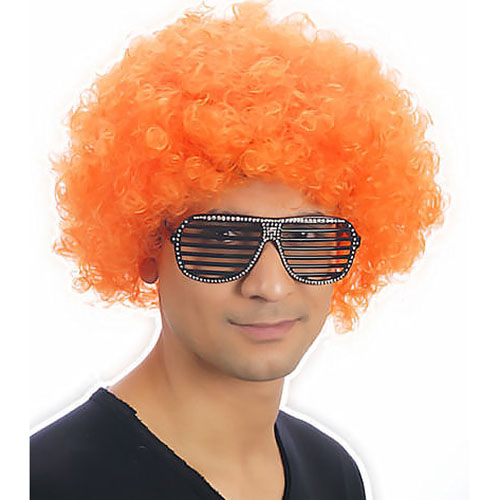Clown Pop Wig (Orange)