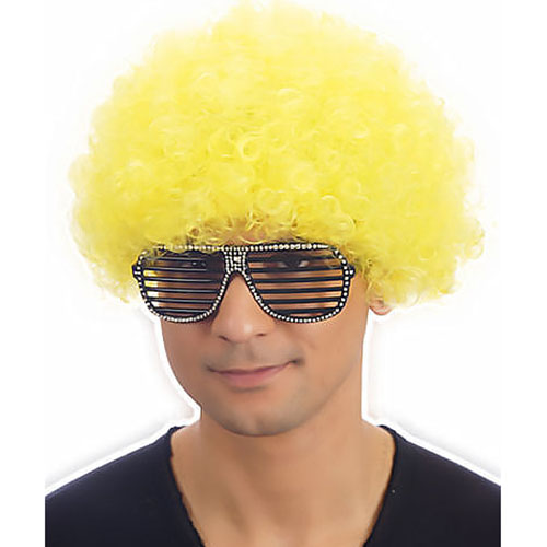 Clown Pop Wig (Yellow)