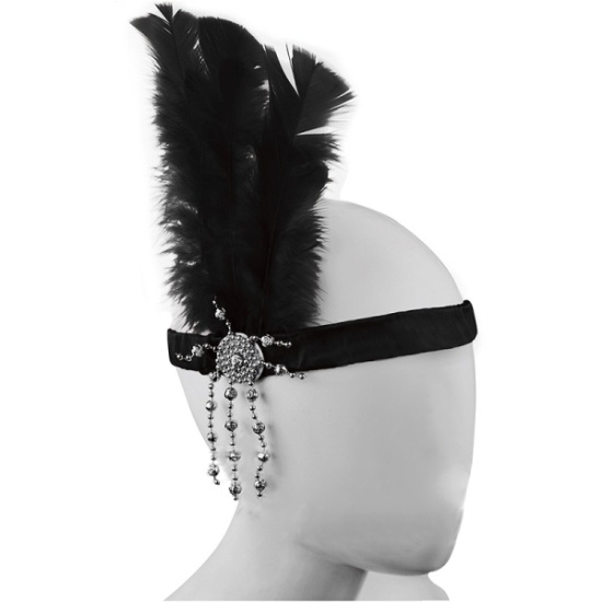 Flapper Headband (Black)
