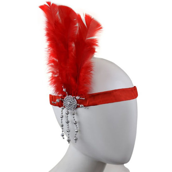 Flapper Headband (Red)
