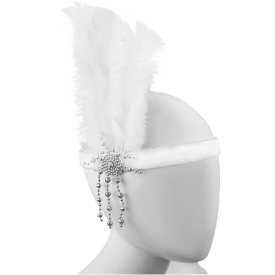 Flapper Headband (White)