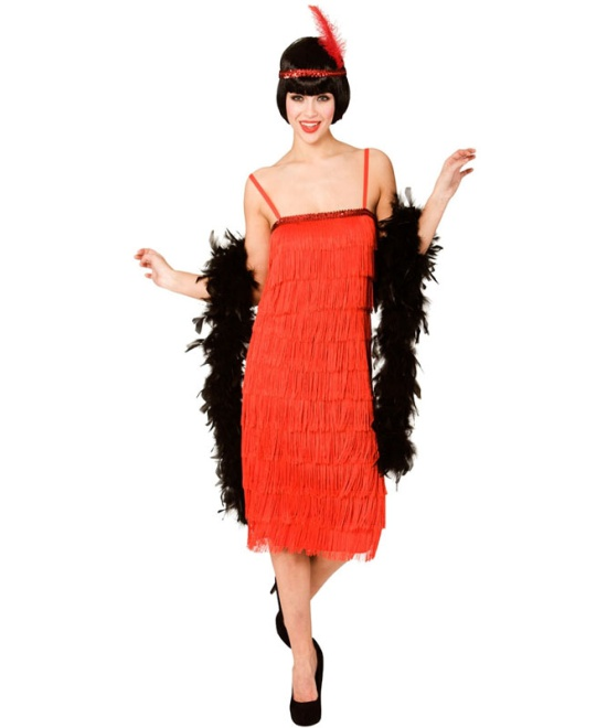 1920s Red Flapper Dress