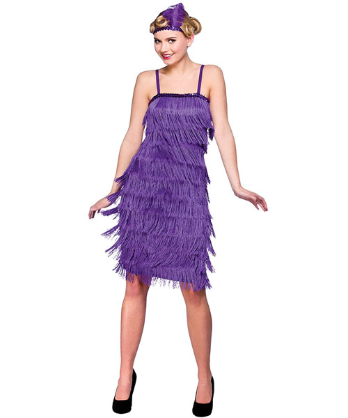 1920s Purple Flapper Dress