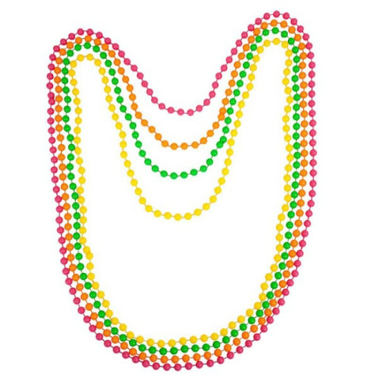 Neon Beaded Necklace