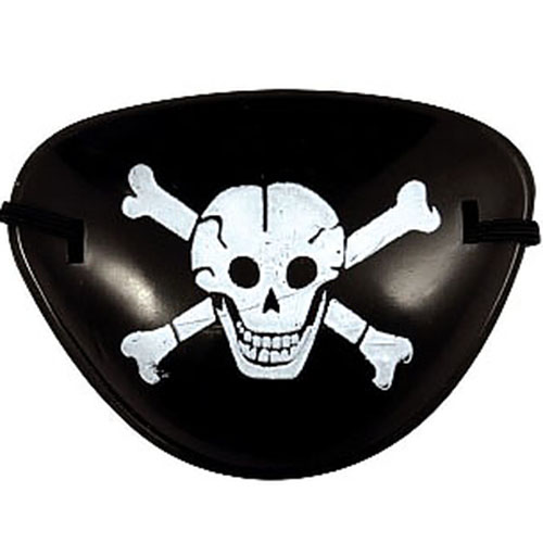 Eye Patch with Skull and Crossbones