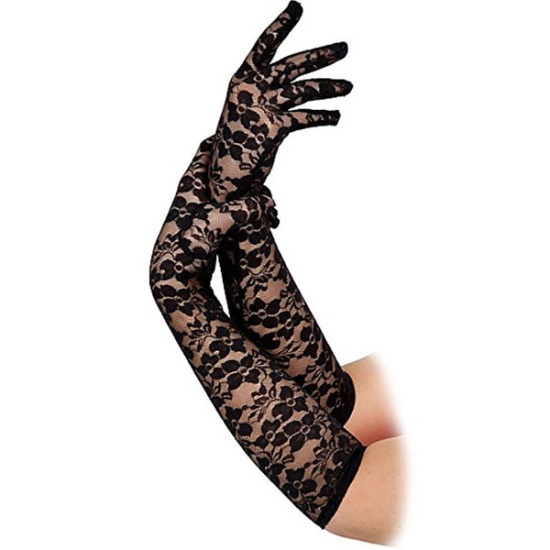 Long Lace Gloves (Black)