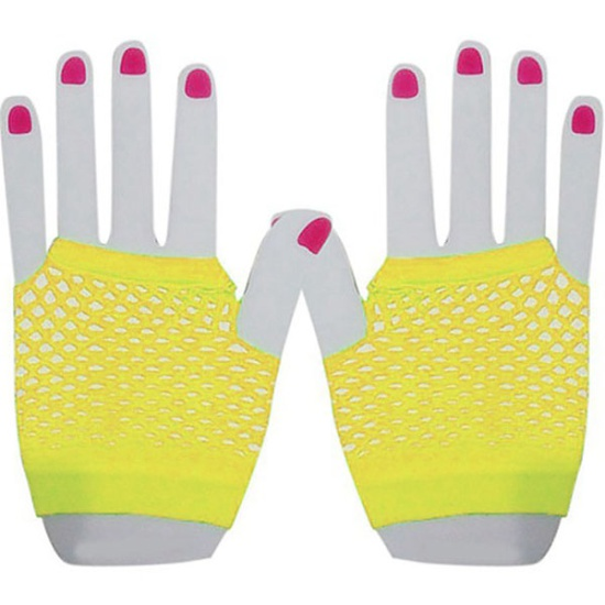 Short Mesh Gloves (Yellow)