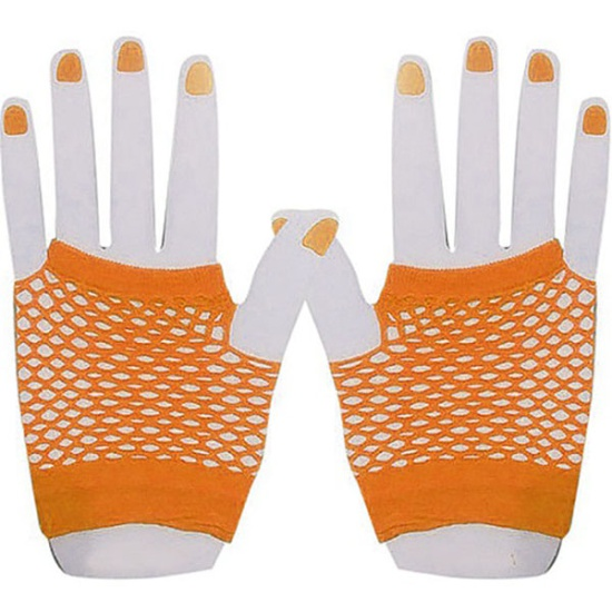 Short Mesh Gloves (Orange)