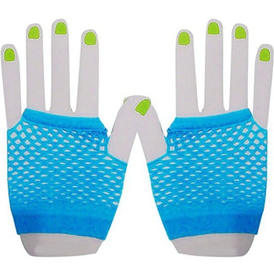 Short Mesh Gloves (Blue)