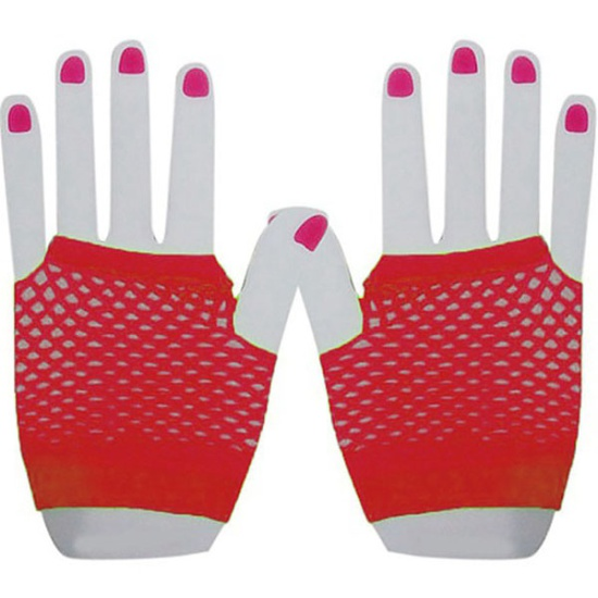 Short Mesh Gloves (Red)