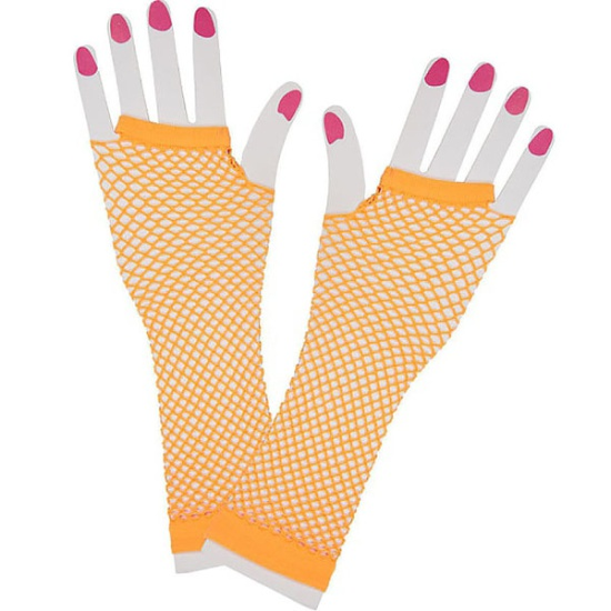Long Mesh Glove (Orange)