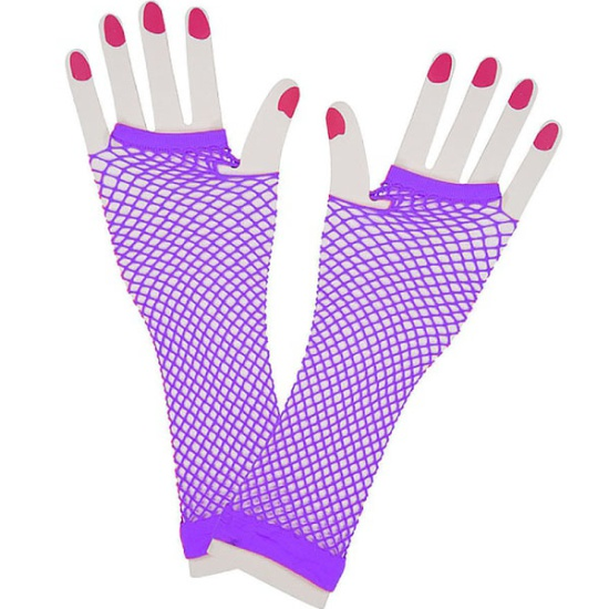 Long Mesh Gloves (Purple)