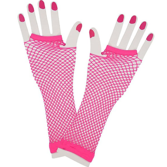 Long Mesh Gloves (Pink)