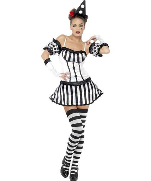 Clown Mime Diva Costume