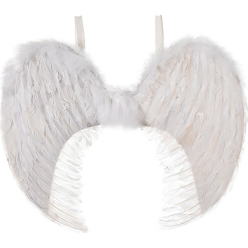 Large Feather Angel Wings (White)