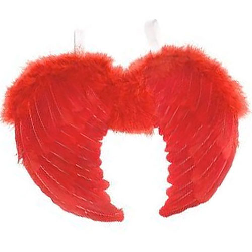 Large Feather Angel Wings (Red)