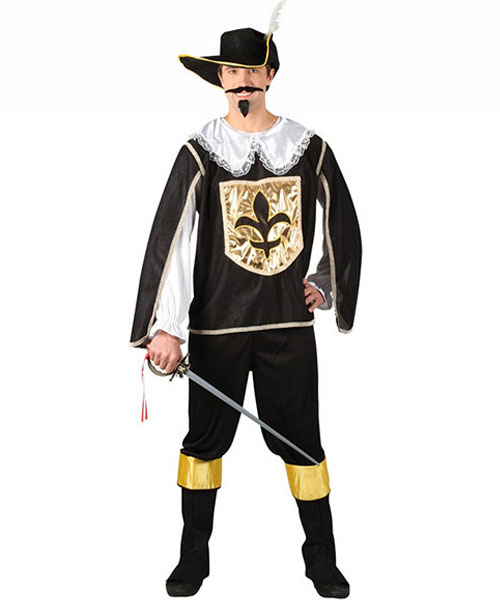 Musketeer (Black) Costume