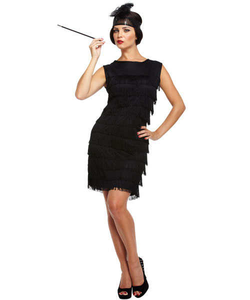 1920s Black Flapper Dress