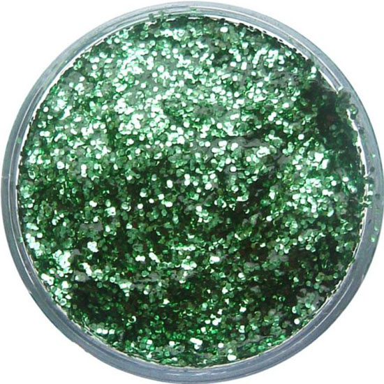 Bright Green Glitter Gel