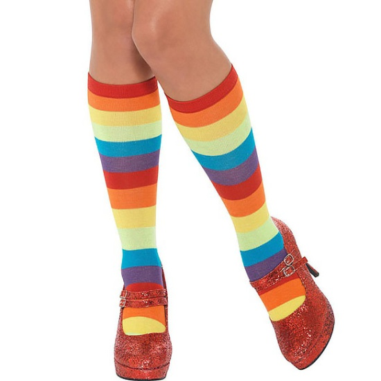 Knee High Rainbow Sock