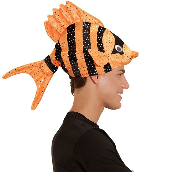 Orange Tropical Fish Hat