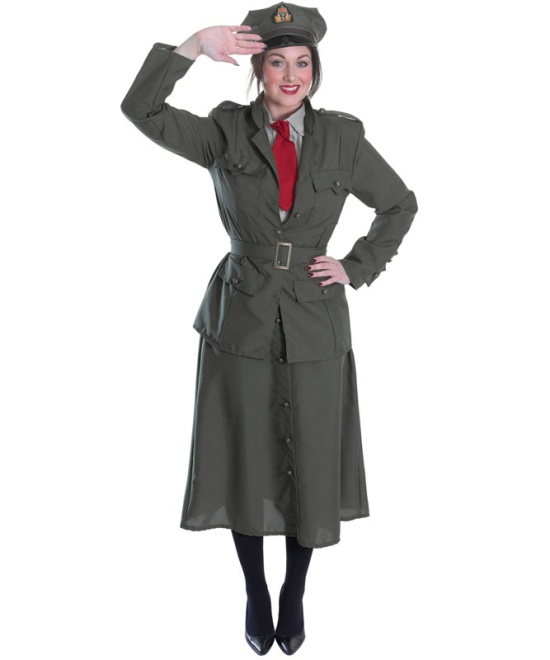 WW2 Army Officer Lady Costume