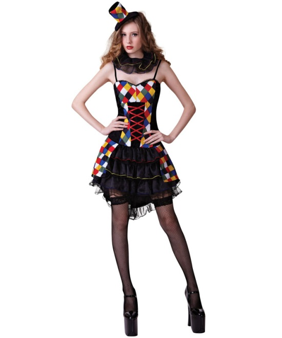 Sexy Clown Lady Costume