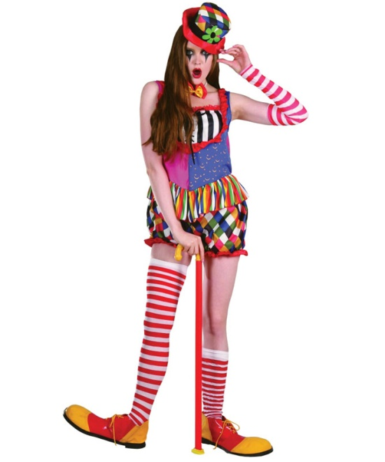 Rainbow Clown (Female) Costume