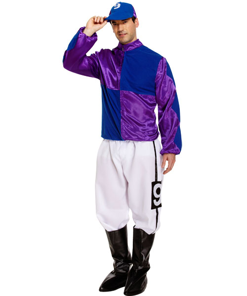 Jockey Costume (Purple/Blue)