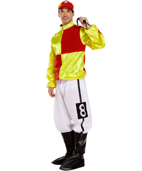 Jockey Costume (Red/Yellow)