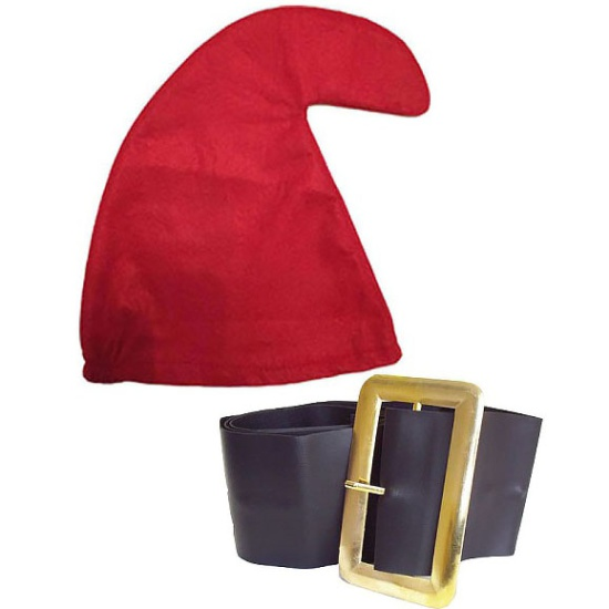 Red Smurf Hat And Belt Set