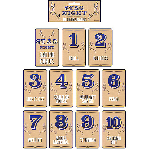 Stag Night- Female Rating Cards