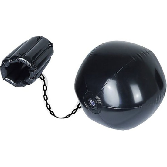 Inflatable Black Ball & Chain