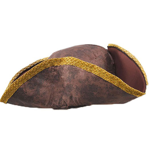 Brown & Gold Pirate Hat