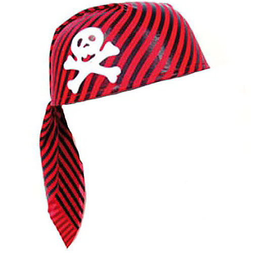 Red & Black Pirate Scarf