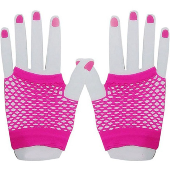 Short Mesh Gloves (Pink)