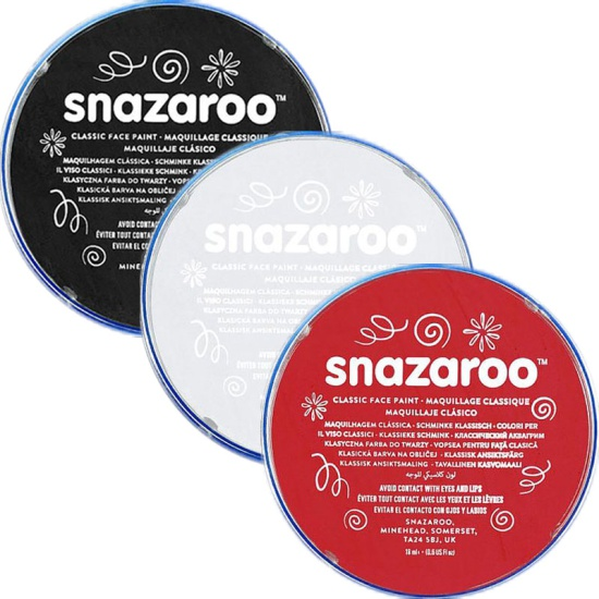 Black White & Red Snazaroo Set