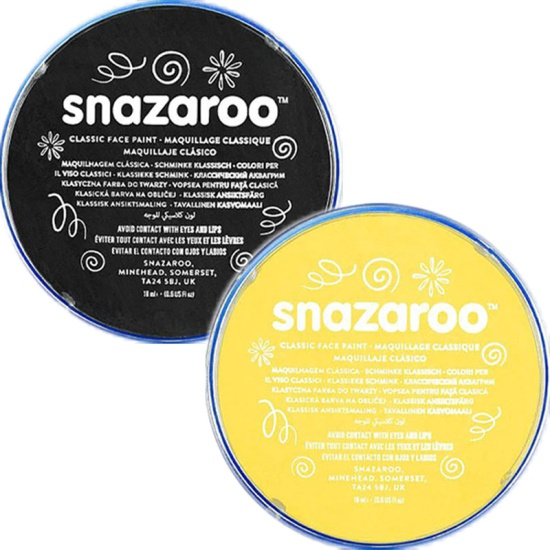 Black & Yellow Snazaroo Face Paint