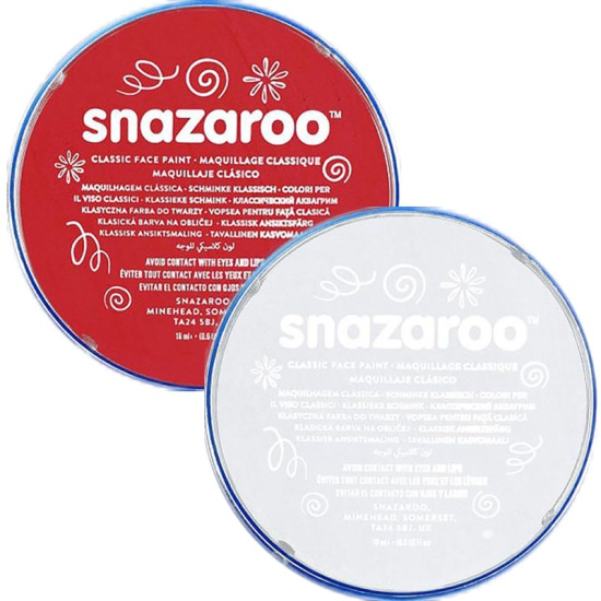 Red & White Snazaroo Face Paint