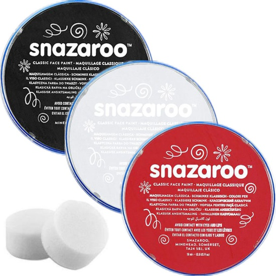 Black, White, Red & Sponges Snazaroo