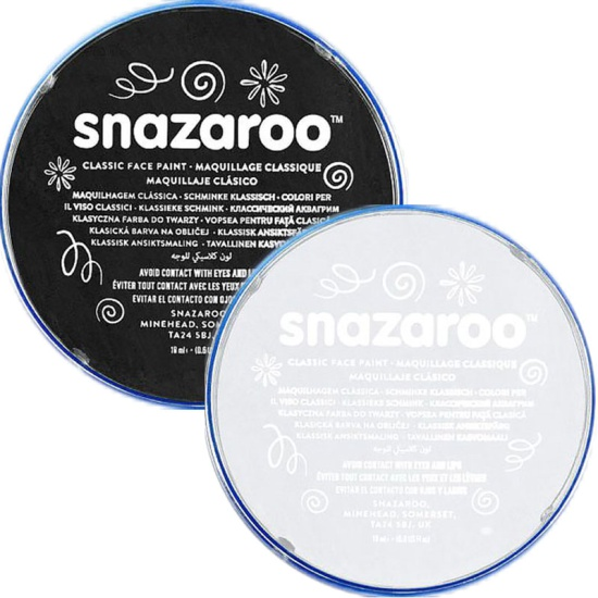 Black & White Snazaroo Face Paint