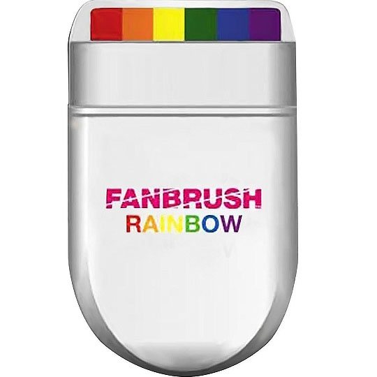 Rainbow Fan Brush