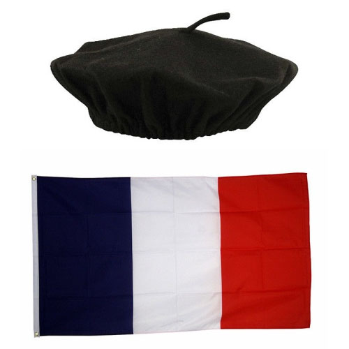 French Flag & Black Beret